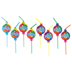 8 Drinking Straws Ballon Party2