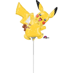 "Mini Shape ""Pikachu"" Foil Balloon, A30, airfilled, 30 x 30cm"