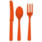 Cutlery Orange Peel Plastic (8 Knives, 8 Spoons, 8 Forks) 17.1 cm / 14.7 cm / 15.7 cm
