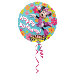 Sing-A-Tune Minnie Mouse Birthday Foil Balloon P75 Packaged 71 cm