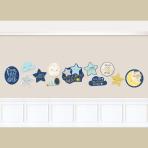 12 Cutouts Twinkle Little Star Paper 27.9 cm / 22.8 cm / 17.7 cm
