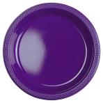 10 Plates Plastic Purple 17.7 cm