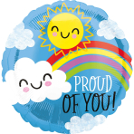 Standard Proud of You Sun and Cloud Foil Balloon S40 package