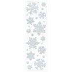 Gel Cling Snowflakes Plastic 4cm / 6 cm / 9 cm