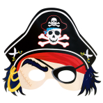Paper Card Pirate Mask PiratesTreasure 21.6 x 22.8 cm