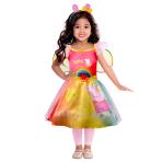 Child Costume Peppa Rainbow Dress Age 3-4 Years