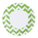8 Plates Kiwi Chevron Paper Round 22.8 cm