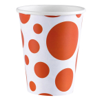8 Cups Orange Peel Dots Paper 266 ml