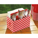 Party Utensils Caddy Picnic Party Paper 19 x 11,4 x 17,7 cm
