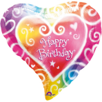 Standard Watercolour Birthday Foil Balloon S40 Packaged