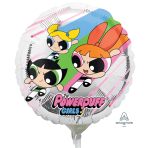 "9'' ""Powerpuff Girls"" Foil Balloon Round, A20, bulk, 23cm"