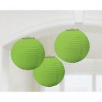 3 Lanterns Kiwi Green Paper 20.4 cm