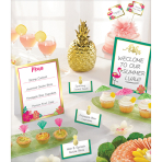 Buffet Decorating Kit Aloha 12 Parts Paper / Wood