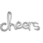 Script Phrase `Cheers` Silver