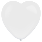 "50 Latex Balloons Decorator Standard Heart Frosty White 30 cm / 12"""