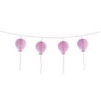 Garland Honeycomb Happy Birthday Pastel Pink Paper 180 cm
