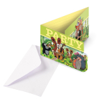 8 Invitations & Envelopes Little Mole Paper 8 x 14.1 cm