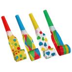 7 Blowouts Multicolour Assorted Plastic / Paper 30 cm