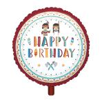 "Standard ""Tepee & Tomahawk"" Foil Balloon Round, S40, packed, 43 cm"