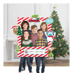Photo Booth Kit Christmas Photo Frame Plastic / Paper 15 Pieces 76.2 x 88.9 cm