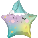 Multi Sleepy Little Star Foil Balloon P41 Packaged
