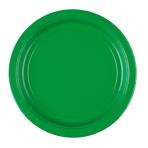 8 Plates Festive Green Paper Round 22.8 cm