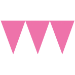 Pennant Banner Bright Pink Paper 457 x 17.7 cm