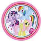 8 Plates My Little Pony Rainbow 23 cm