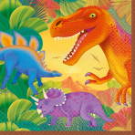 16 Napkins Prehistoric Party 33 x 33 cm