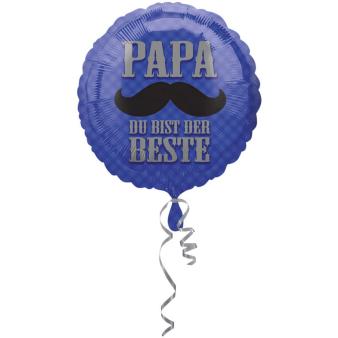 Standard Papa du bist der Beste Foil Balloon Round S40 Packaged 43 cm