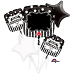 "Bouquet ""Chalkboard Birthday Party"" Foil Balloon, P90, packed"