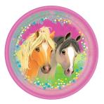 8 Pretty Pony Plates Round Papier 23 cm