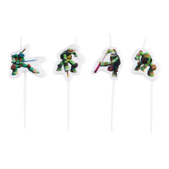4 Mini Figurine Candles Teenage Mutant Ninja Turtles