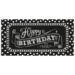 Foil Banner Birthday Accessories - Black & White 165 x 85.1 cm