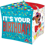 "Cubez ""Birthday Pets"" Foil Balloon, G20, packed, 38 x 38cm"