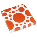 20 Napkins Orange Peel Dots 33 x 33 cm