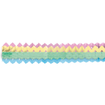 2 Garlands Mini Pastel Rainbow Paper 8 x 200 cm