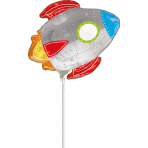 Mini Shape Blast off Birthday Foil Balloon A30 bulk