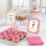 Buffet Decoration Kit 1st Birthday Pink 12 Parts Paper / Woo