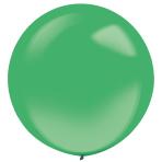 "4 Latex Balloons Decorator Crystal Festive Green 61 cm / 24"""