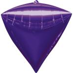 Diamondz Purple Foil Balloon G20 Bulk 38 x 43 cm