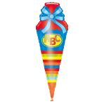 SuperShape ABC School Cornet Foil Balloon P35 Packaged 35 x 111 cm