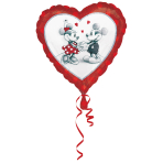Standard Mickey & Minnie Love Foil Balloon S60 Packaged 43 cm