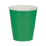 10 Cups Festive Green Plastic 355 ml