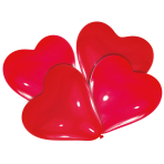 4 Latex Balloons Lovely Moments Red 30 cm
