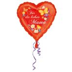 Standard Für die liebste Mama Foil Balloon Round S40 Packaged 43 cm