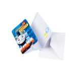 6 Invitations & Envelopes Thomas & Friends Paper 8 x 14.1 cm