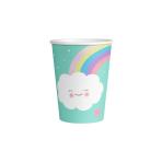 8 Cups Rainbow & Cloud Paper 250 ml