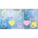 5 Swirl Decorations Baby Shower Foil / Paper 61 cm