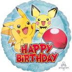 "Standard ""Pokemon HBD"" Foil Balloon Round , S60, packed,"